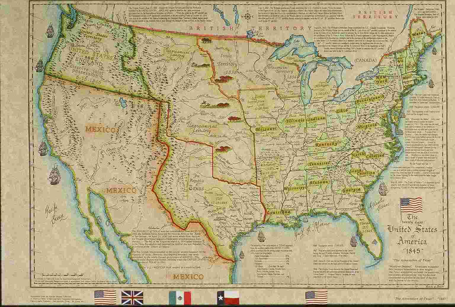 United States Historical Maps United States Genealogy History - Map of us in 1823