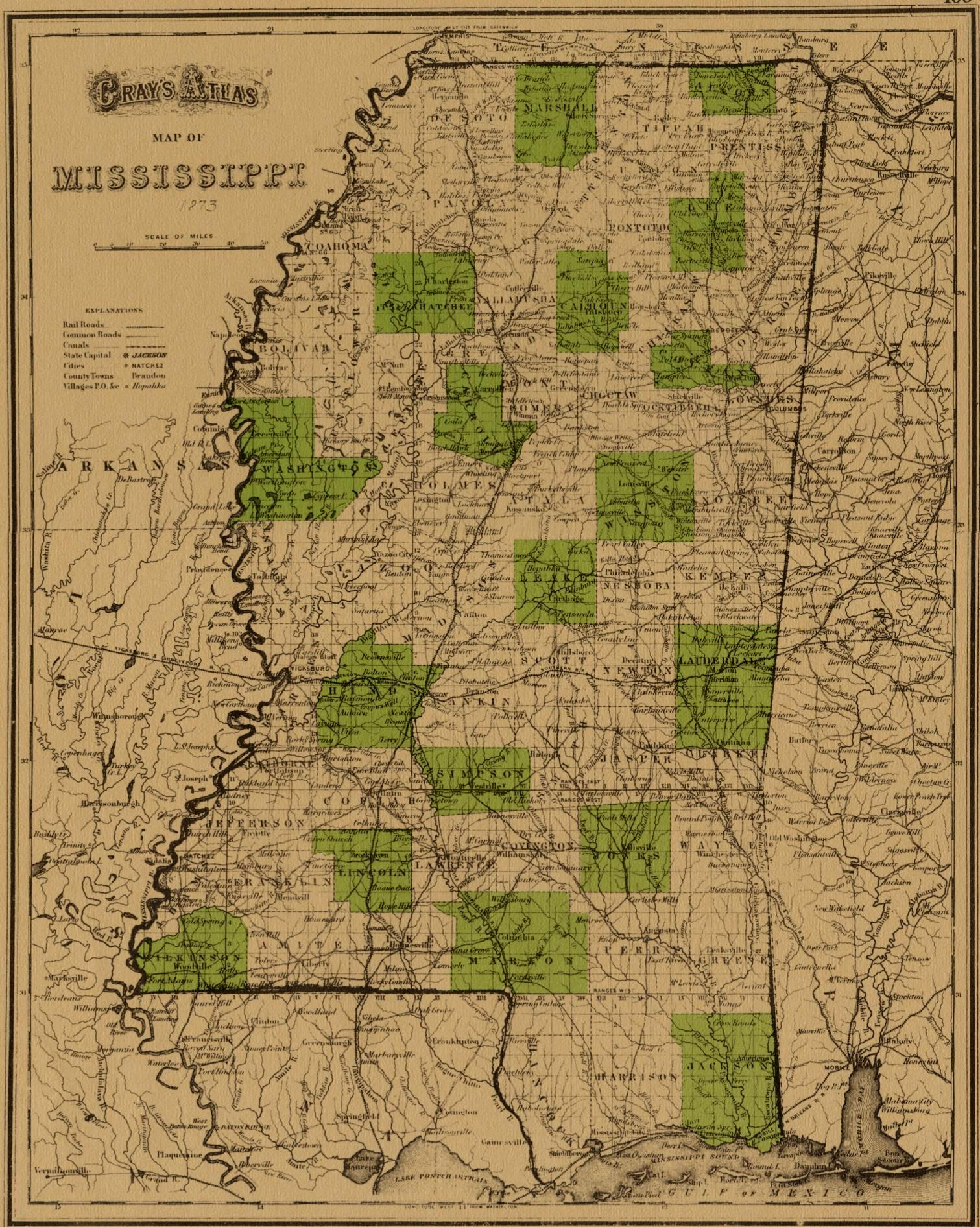 Mississippi County Map - Mississippi maps